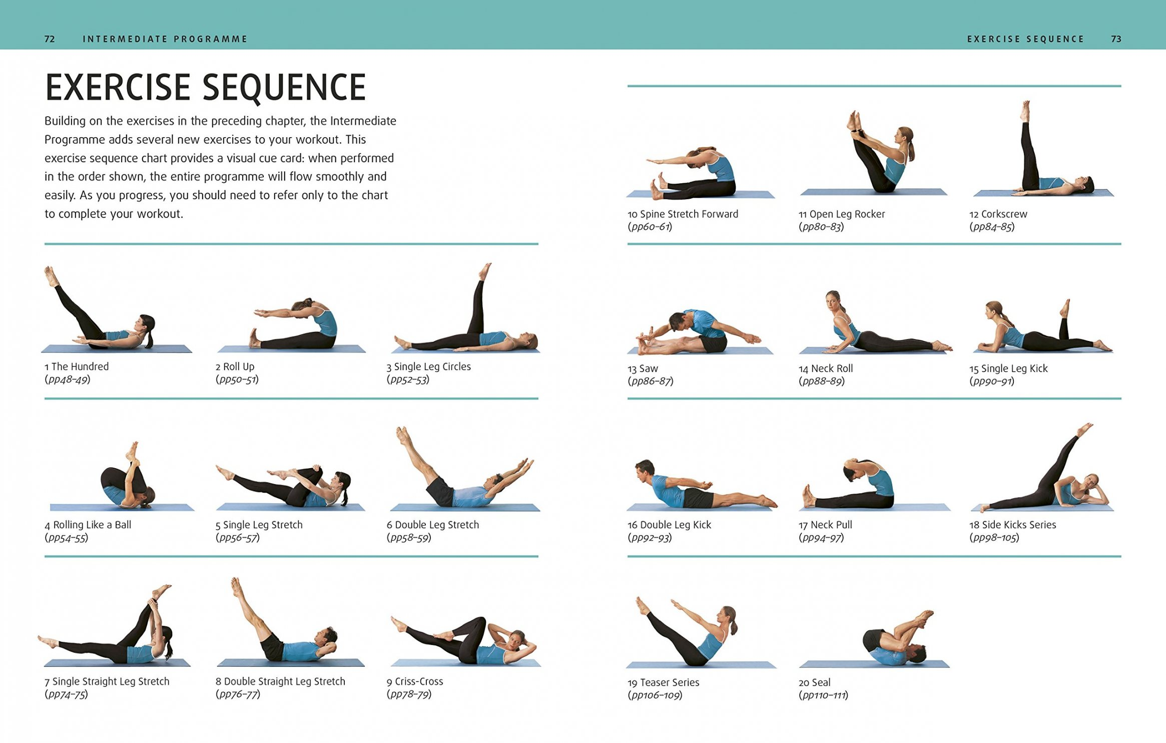 Pilates Intermediate Mat Routine
